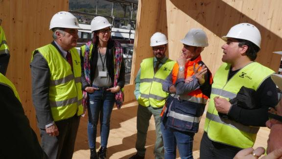 Éxito de las visitas técnicas organizadas a la obra de Visesa en Hondarribia