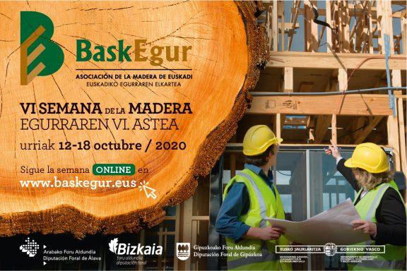 Baskegur celebrará del 12 al 18 de octubre su VI Semana de la Madera de forma online